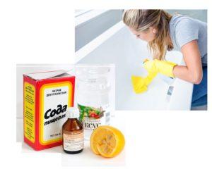 Народные средства для очистки акриловых ванн