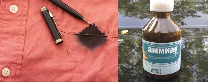 Вывести пятна ржавчины нашатырным спиртом фото