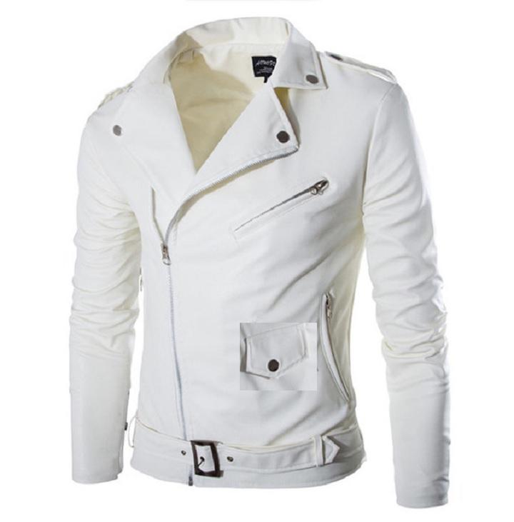Кожаная белая куртка
