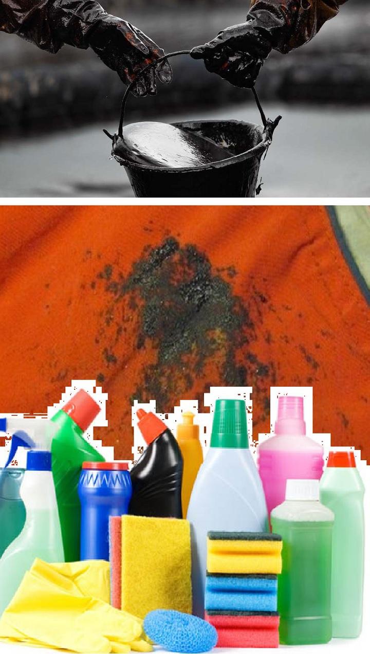 Как удалить пятна нефти фото