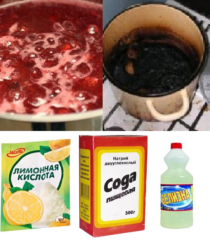 Сахарный пригар очистит химия