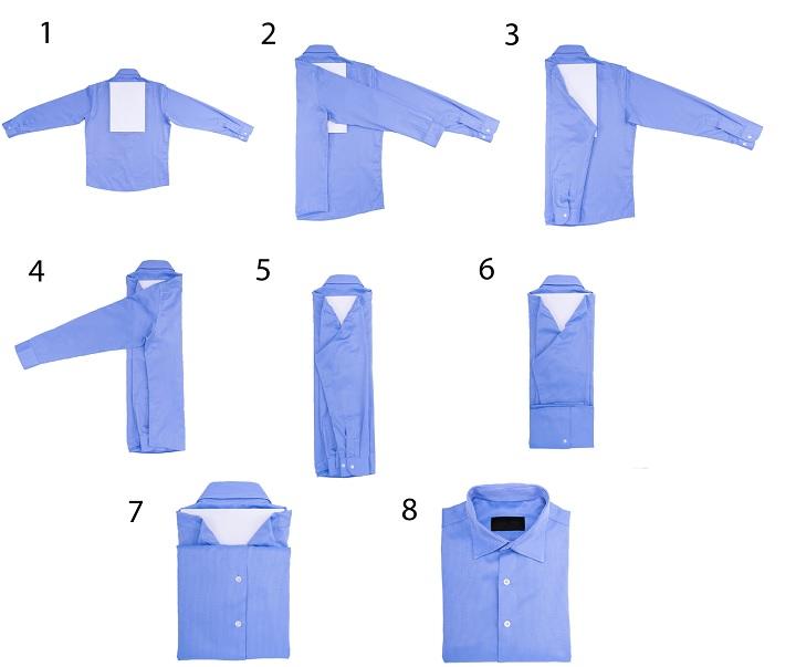 Как красиво свернуть футболку в подарок 43
