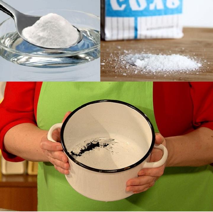Содой и солью очистка эмали