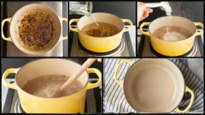 Чистка солью и водой пригар на эмали