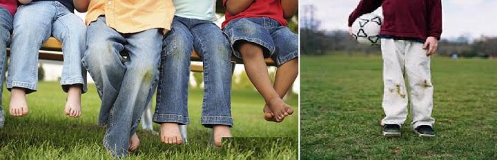 Пятна на джинсах от травы