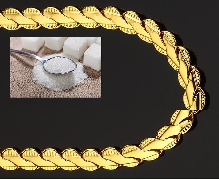 Как в домашних условиях почистить золотую цепь 622
