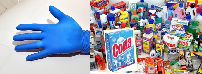 Перчатки от соды кальцинированной и химии