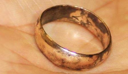 Окисленное золотое кольцо