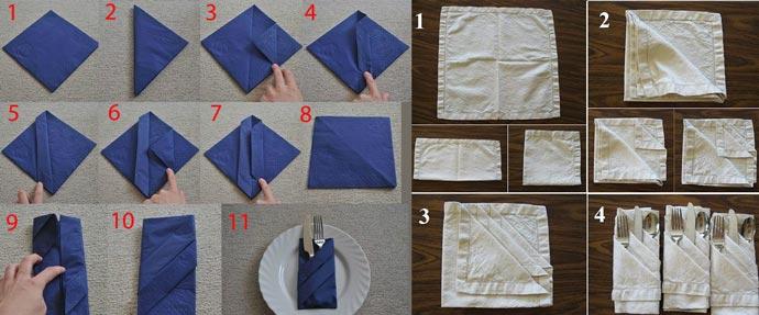 Пошагово французкий конверт из салфетки для сервировки