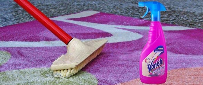 Спей ваниш для чистки ковров