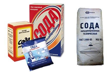 Сода пищевая и кальцинированная