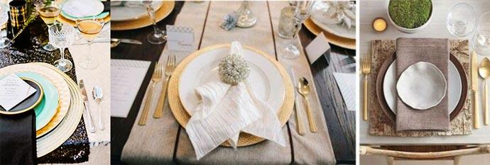 Ар-деко стиль для сервировки стола