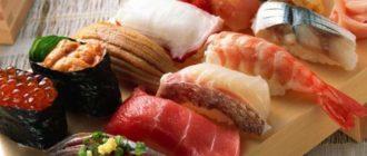 Блюдо японской еды