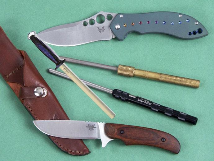 Ножи и алмазный мусат