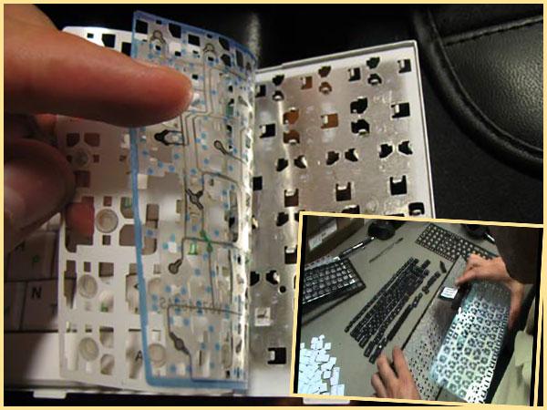 Контакты клавиатуры и их чистка