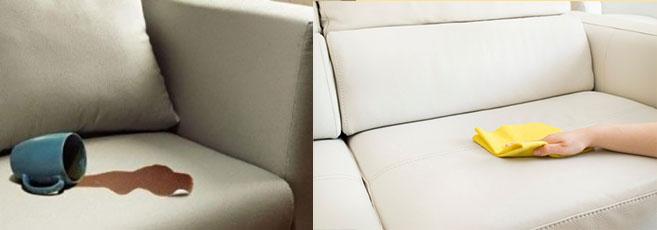 Пролитый на диван кофе и чистка дивана