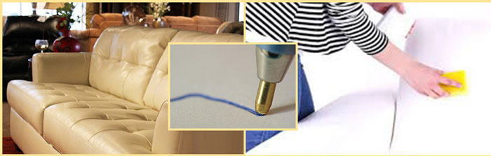 Следы ручки на дивана и их удаление губкой