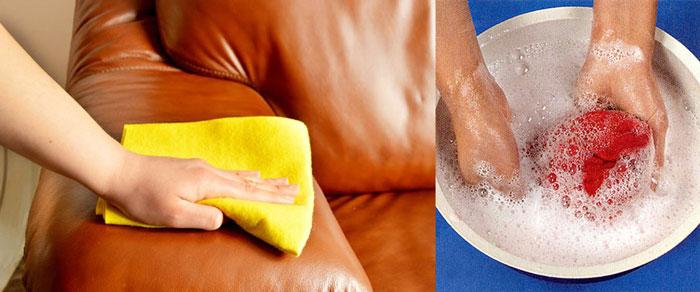 Мыльаня вода и мытье дивана