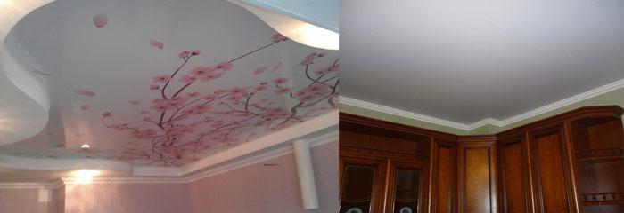 Натяжные потолки тканевый и пленочный