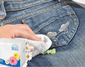 Бумажные салфетки против жвачки