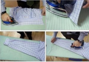 Шаги по глажке рубахи