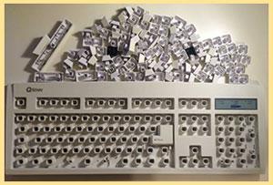 Разобранная клавиатура