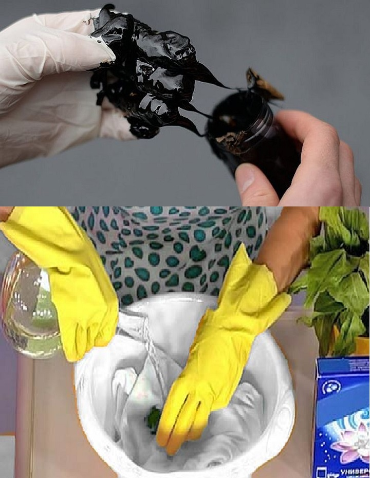 Как стирается пятно с мазутом