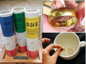 Для проверки золота реактивы