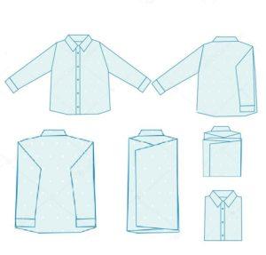 Способ 1 по сложению рубашки