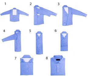 Способ 2 по сложению рубашки