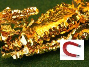 Проверка золота магнитом