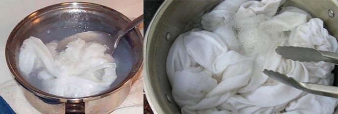 Кипячение белого белья