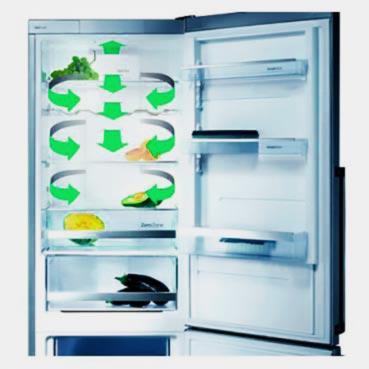 Расперделение мороза в холодильнике