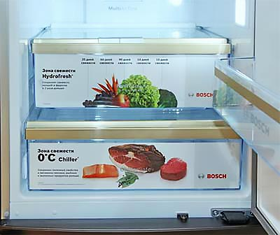 0 градусов - зона свежести холодильника