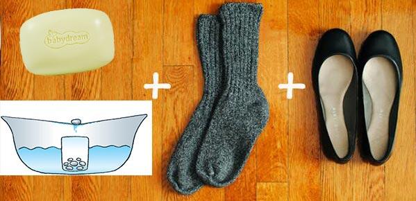 Мыло, вода, толстые носки и тесная обувь