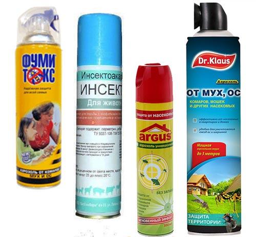 Аэрозоли от мух Инсектан, фумитокс, Dr.Klaus, ARGUS
