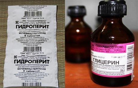 Гидроперит и глиценрин против пятен крови