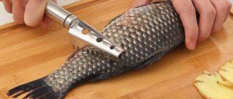 Нож для чистки рыбы не должен быть чересчур длинным