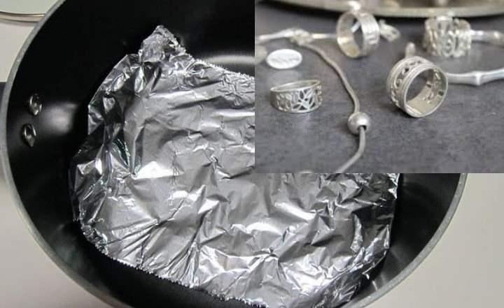 Процесс чистки серебра