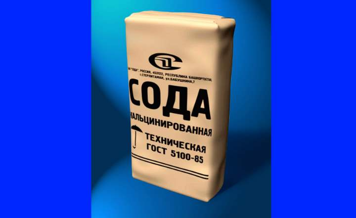 Пакет кальцинированной соды