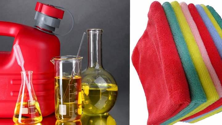 Тряпки и бытовая химия