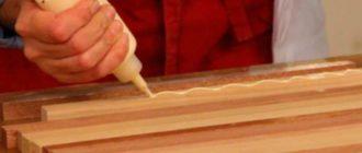 Тюбик клея для дерева