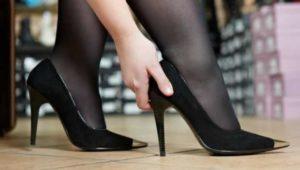разносить замшевые туфли, которые жмут