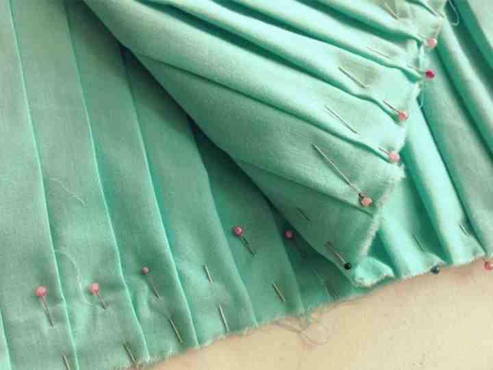 Зеленое плиссе
