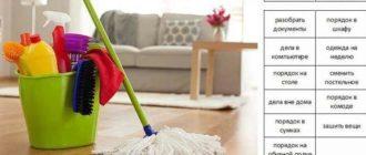 составить грамотный план уборки квартиры