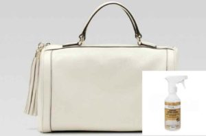 Белая сумка и очиститель