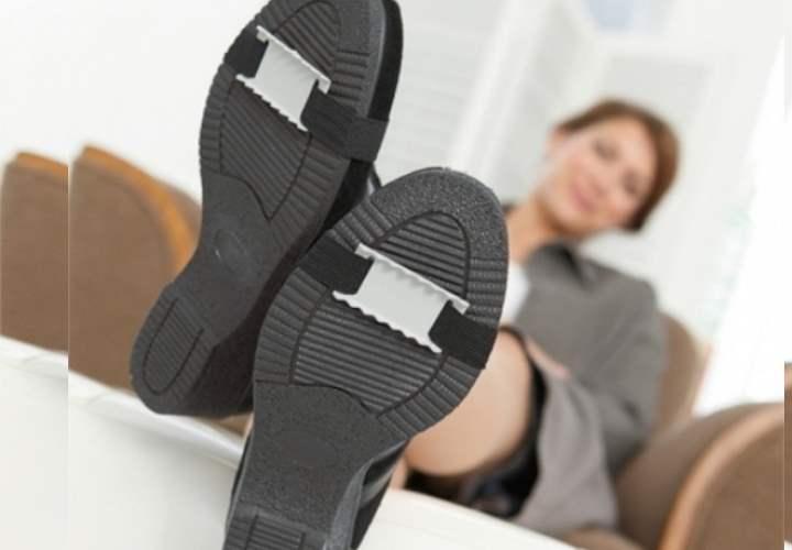 специализированная противоскользящая конструкция на обувь