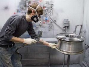 Обработка литых дисков от коррозии специалистами