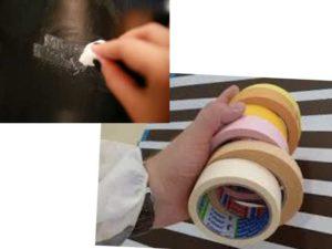 Чтобы удалить следы клея используют или специализированные средства или народные средства.