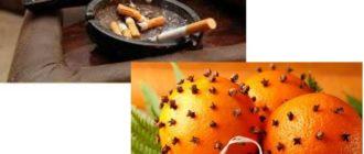 Кожура цитрусовых - помогает бороться с дымом или запахом